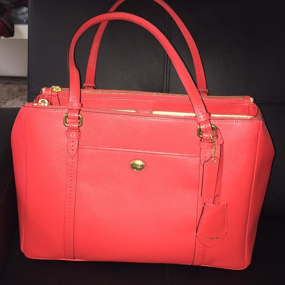 Coral Color Handbags